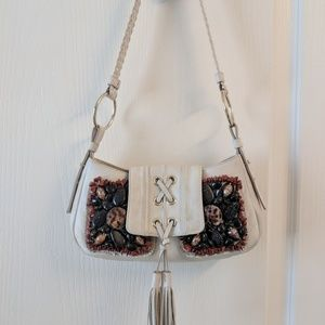 Yves Saint Laurent beautiful beaded shoulder purse